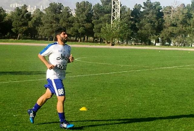 بازیکنان مصدوم در تمرینات استقلال شرکت کردند