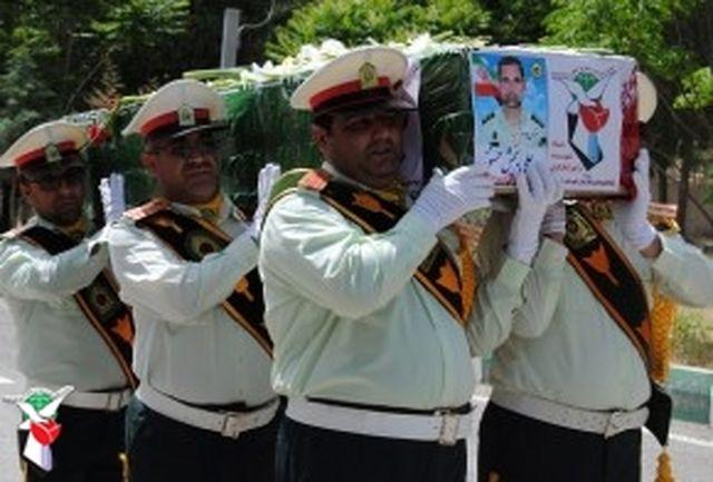 تشییع پیکر مطهر شهید علیبخش حسنوند در خرمآباد