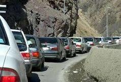 ترافیک جاده کرج -چالوس سنگین است