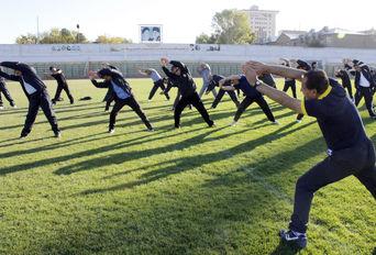 ورزش صبحگاهی بمناسبت آغاز هفته تربیت بدنی