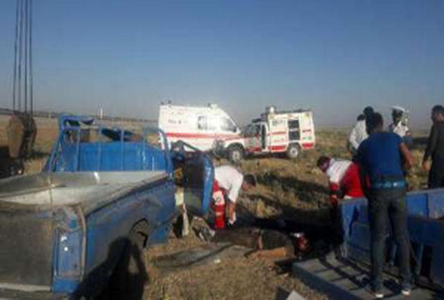 16 مصدوم بر اثر واژگونی خودرو در الیگودرز