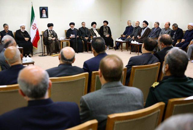 مسئولان و دستاندرکاران برگزاری حج  با رهبر انقلاب اسلامی دیدار کردن