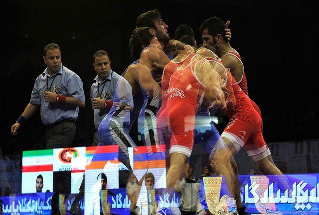 برگزاری رقابتهای کشتی فرنگی قهرمانی کشور در گروههای الف و ب
