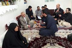 حضور رئیس سازمان انرژی اتمی در قم/دیدار  با خانواده شهیدان جابری