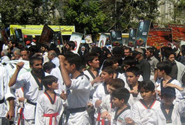 جامعه ورزش با شور و خروش در راهپیمایی روز قدس حضور می یابد