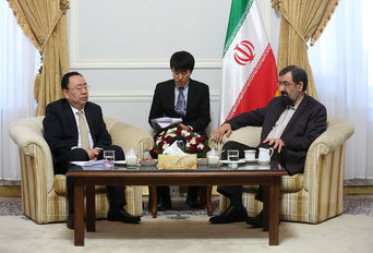 دیدار دبیر مجمع تشخیص مصلحت نظام با هیات دیپلماتیک حزب حاکم چین