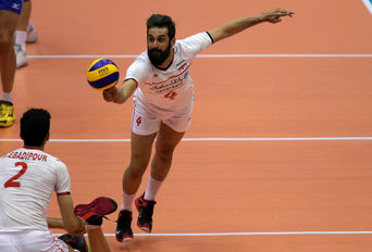 دیدار والیبال دو تیم ایران و روسیه