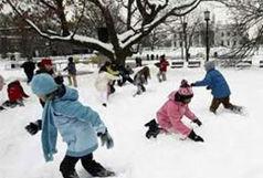 تعطیلی مدارس در 4 استان به علت بارش برف و سرما