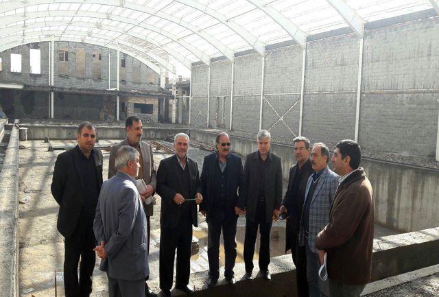 شهردار و شورای شهر پیشوا از پروژه مجموعه فرهنگی ورزشی شهرداری بازدید کردند