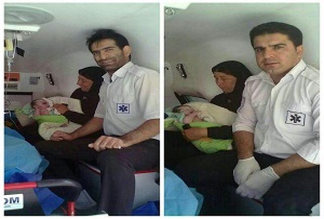 تولد نوزاد اردلی در آمبولانس اورژانس