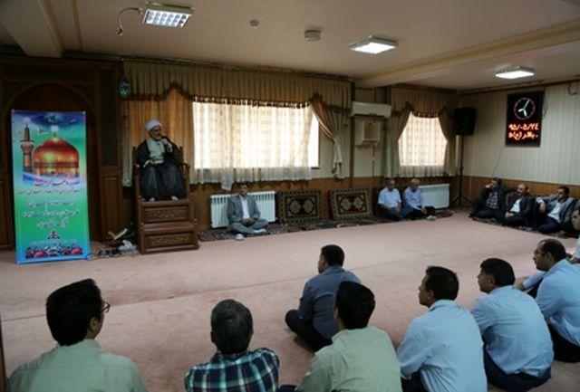 برگزاری جشن میلاد امام رضا(ع) در شرکت گاز استان آذربایجان شرقی