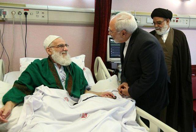ظریف از هاشمی شاهرودی عیادت کرد