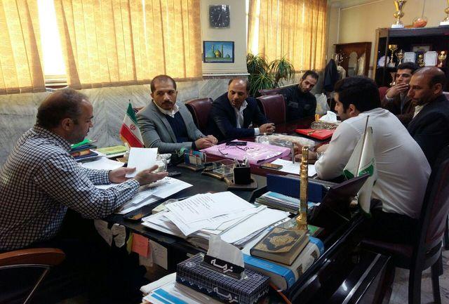 برگزاری جلسه رئیس اداره با اعضای هیئت اتومبیل رانی و موتورسواری شهرستان ری و باقرشهر