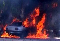 سرنشینان پژو در در آتش سوختند