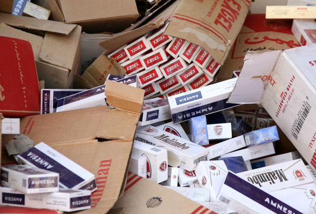 کشف بیش از 66 هزار نخ سیگار خارجی قاچاق در استان اردبیل
