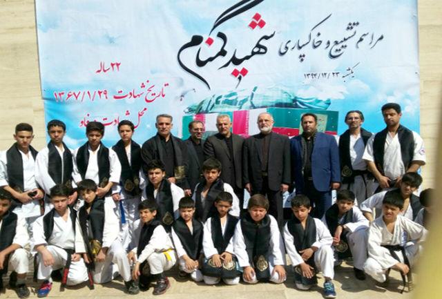 اهالی کاراته پایتخت در مراسم تشییع پیکر پاک شهدای گمنام حضور یافتند