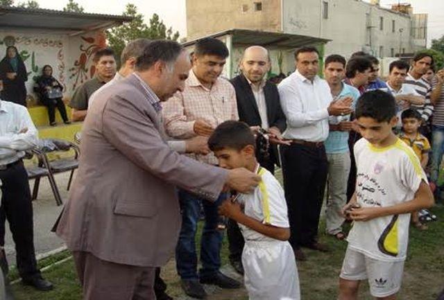 مراسم اختتامیه فوتبال نونهالان شهرستان ملارد برگزار شد