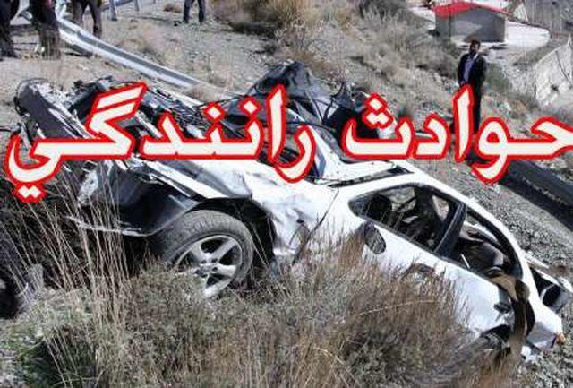 2 کشته و45 مصدوم بر اثر تصادف در محور چمن بید- آشخانه