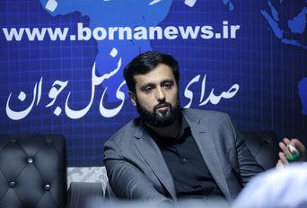 حضور عماد هاشمی رفسنجانی در خبرگزاری برنا