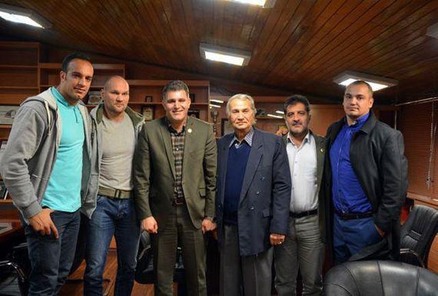 جلسه رییس فدراسیون  دوومیدانی با مربی مجارستانی