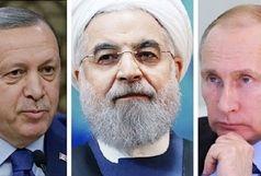 عکس یادگاری روسای جمهوری ایران، روسیه و ترکیه/ ببینید