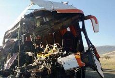 تصادف اتوبوس و کامیون 13 مجروح برجای گذاشت