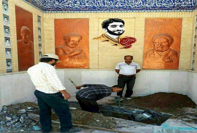 آمادهسازی مزار شهید حججی در نجفآباد اصفهان/ ببینید