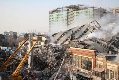 آتش سوزی و فروریختن ساختمان پلاسکو-6
