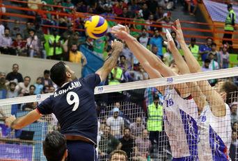 دیدار دوم تیمهای ملی والیبال ایران و روسیه