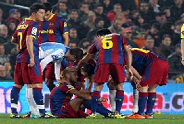 مدافع بارسلونا 2 هفته سکونشین شد