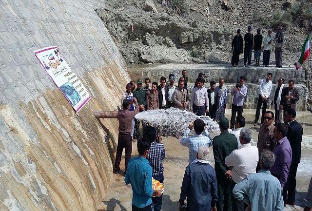 افتتاح پروژه آبخیزداری حوزه دستگرد درگاز بشاگرد در هفته دولت