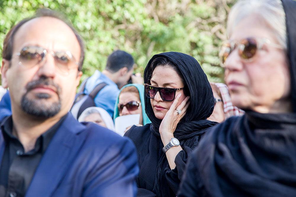 مریلا زارعی مراسم بدرقه پیکر عباس کیارستمی
