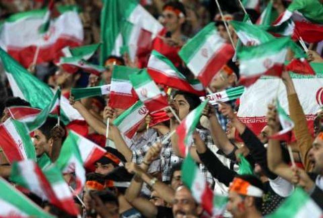 هواداران ایرانی در ورزشگاه عبدالرحمن+عکس