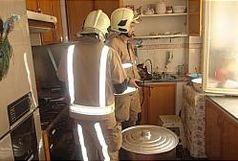 اتصالی برق در آشپزخانه خانمان سوز شد