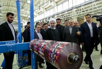 افتتاح طرح های صنعتی در تاکستان قزوین با حضور رئیس جمهوری