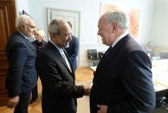 نهاوندیان با رئیس جمهور سوئیس دیدار کرد