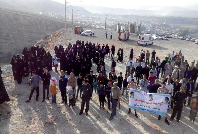 برگزاری همایش بزرگ کوه پیمایی به مناسبت هفته تربیت بدنی در پلدختر