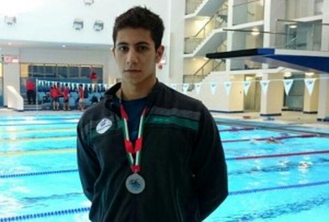 انصاری در 50 متر پروانه صاحب مدال برنز شد