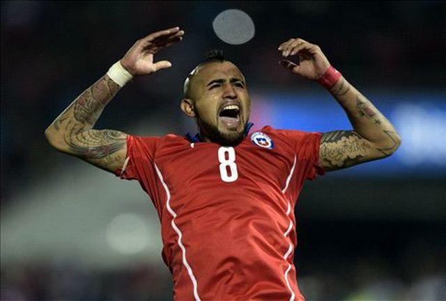 ویدال: شیلی همیشه به دنبال رسیدن به پیروزی است