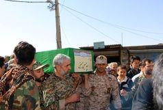 پیکر مطهر شهید مدافع حرم در بهشت زهرا آرام گرفت