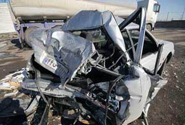 مرگ 6سرنشین پژو در تصادف با اتوبوس