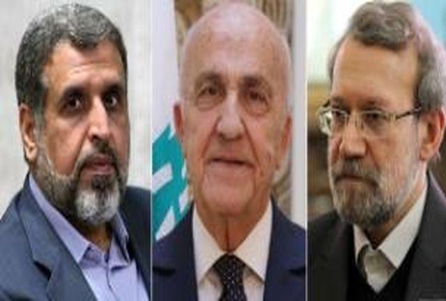 وزیر دفاع لبنان و دبیرکل جنبش جهاد اسلامی فلسطین با رئیس مجلس دیدار میکند
