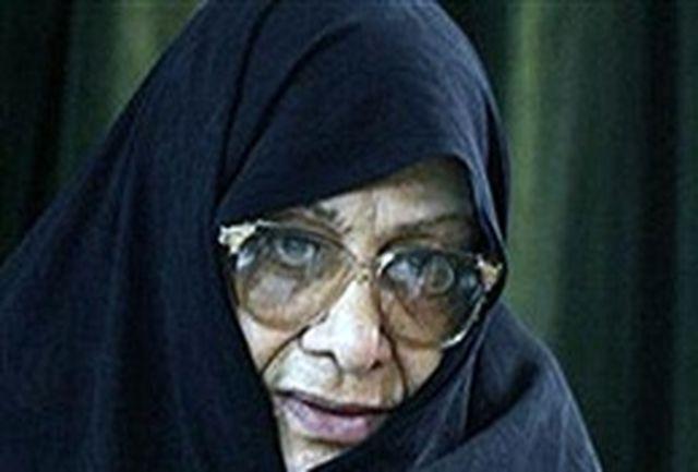 مرضیه دباغ: زنان با دعوت امام(ره)، در جنگ فعال بودند