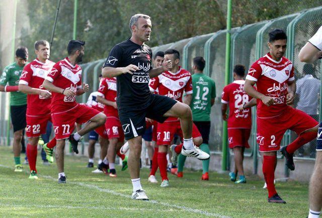 همبستگی پرسپولیس و تیم ملی، شعار هواداران در تمرین سرخپوشان
