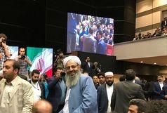 حضور مولوی عبدالحمید در مراسم تجلیل از ستاد دکتر روحانی