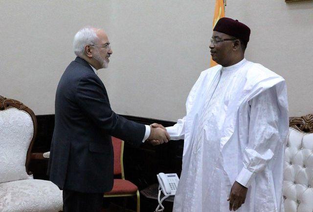 ظریف با رییس جمهوری نیجر دیدار کرد