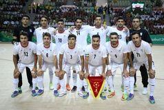 تیم ملی فوتسال ایران بربام آسیا