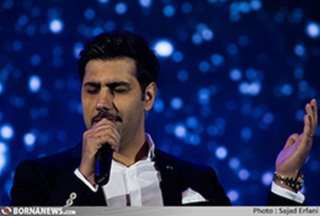 احسان خواجه امیری با همسرش در جشن موسیقی ما + عکس
