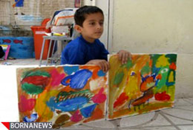 فروش اثر نقاشی یك شهید به نفع جانباز دستفروش