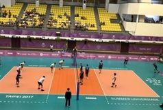 پیروزی تیم والیبال دانشجویان ایران برابرتیم دانشجویان قبرس
